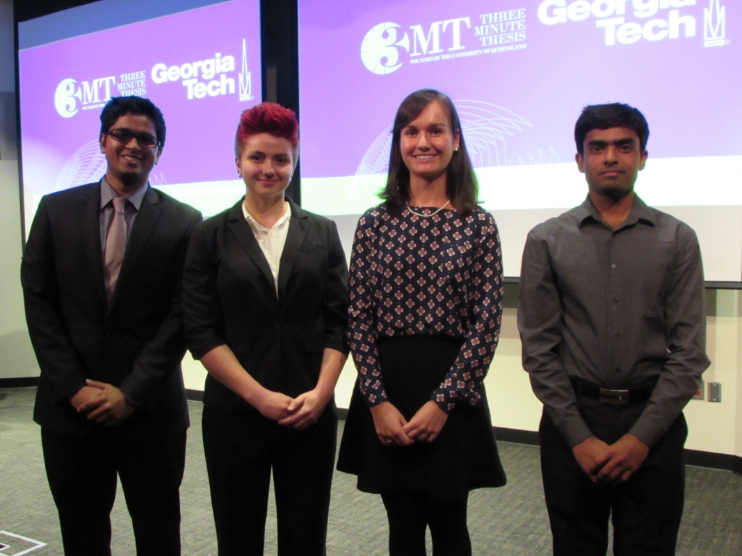 Winners Three Minute Thesis competition for graduate students.