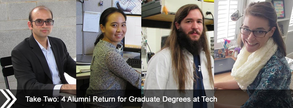 Take Two: 4 Alumni Return for Graduate Degrees at Tech