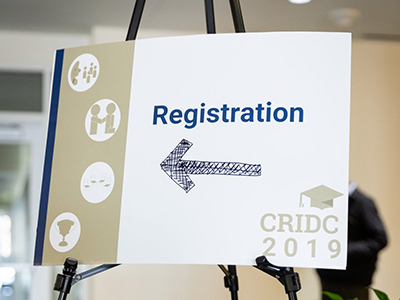 image of CRIDC registration sign
