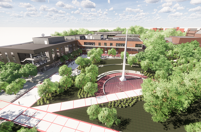 image of new Student Center rendering